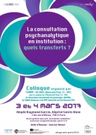La consultation psychanalytique en institution : quels transferts ? - LE SUJET DANS LA CITE